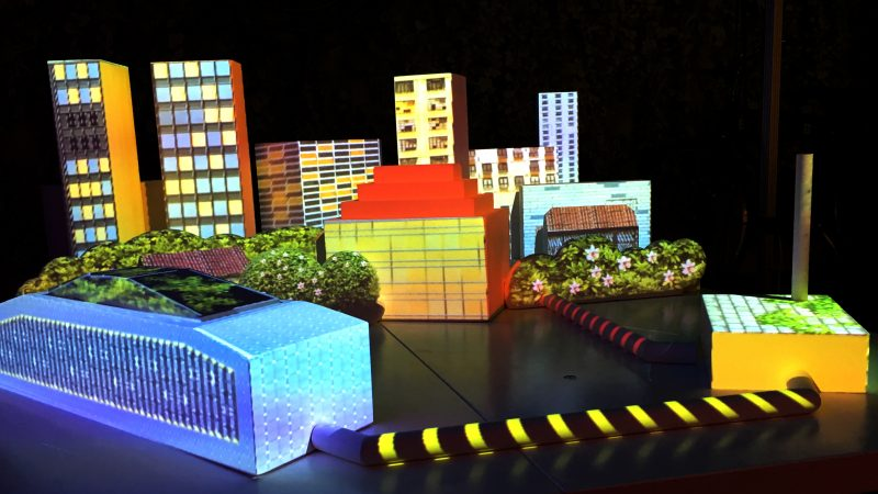 Elementica's infrastructure visualized as physical 3D-projections
